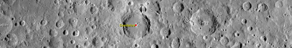 Daedalus Moon Crater from Virtual Moon Atlas 6