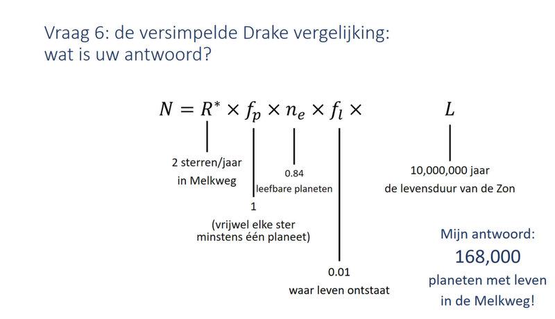 20171109 Sheet Drake vergelijking astrobiologie